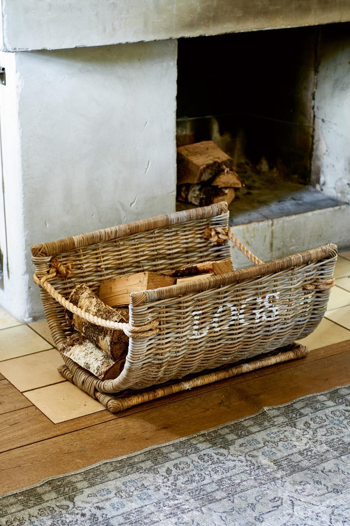 RM Log Wood Basket