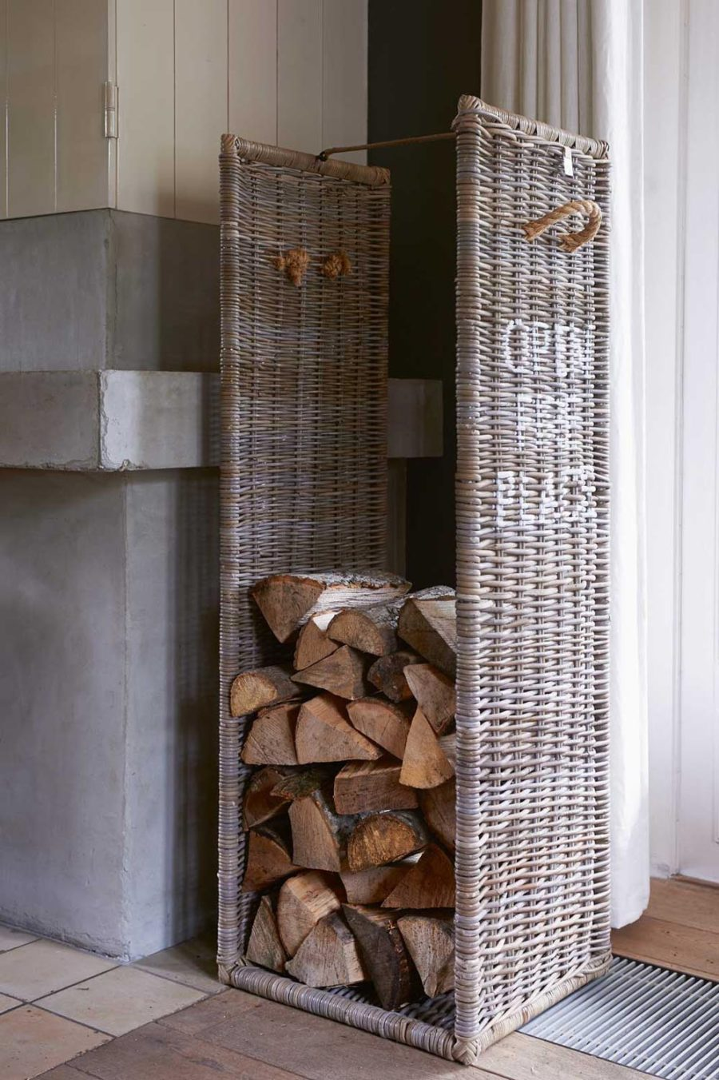 Open Fire Place Log Basket L