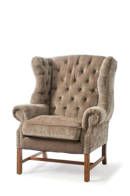 Franklin Park Wing Chair Vel Olive
