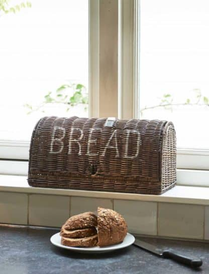 Rustic Rattan Bread Box