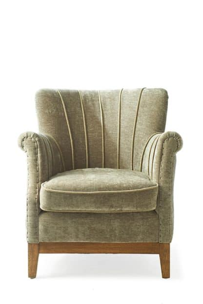 East Village Armchair velvet Olive