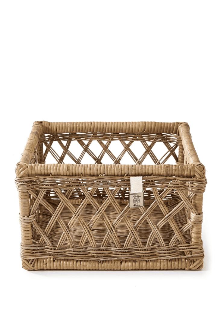 Rustic Rattan Basket Open Weave