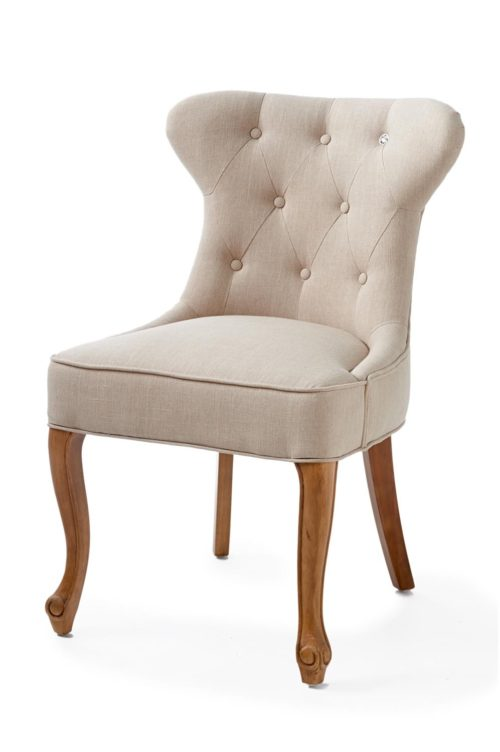 George Dining Chair lin Flax
