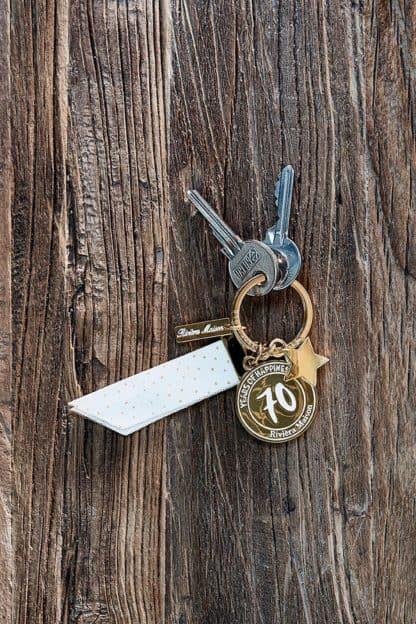 70 Years Of Happiness Key Hanger