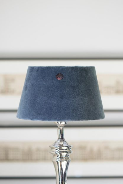 Velvet Lampshade clams grey 15x20