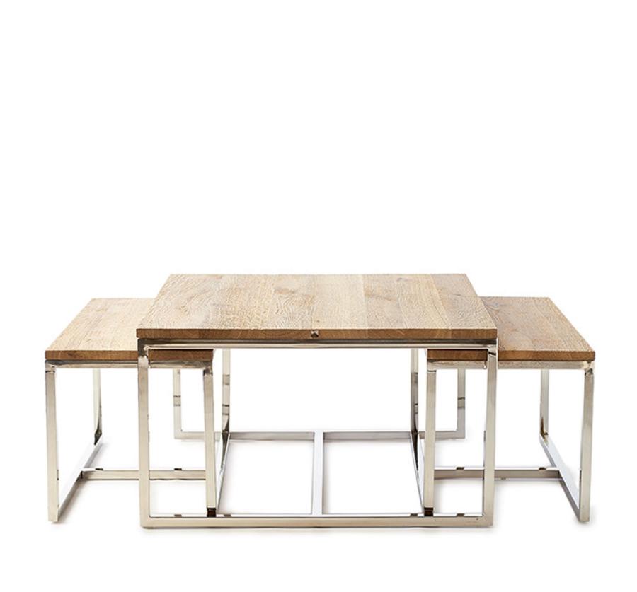 Monaco Coffee Table 70x70 S/3