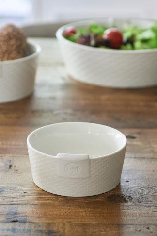 Pure Rattan Ceramic Bowl S