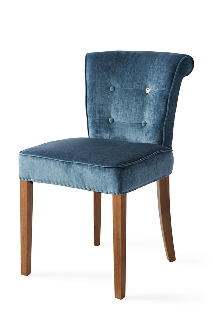 Meadow Dining Chair Velvet Indigo