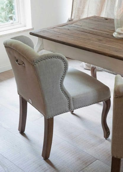 Keith Lowback Wing Chair lin Flax