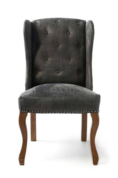 Keith Dining Wing Chair pel Anthra