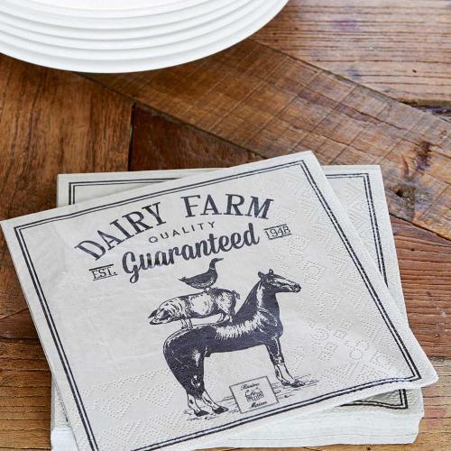 DAIRY FARM HORSE PAPER NAPKIN