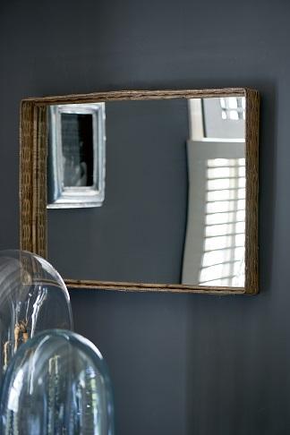 Rustic Rattan Mirror 70x50