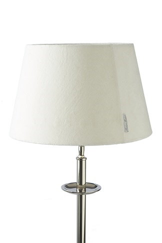 RM velvet Lampshade Off White 28x38