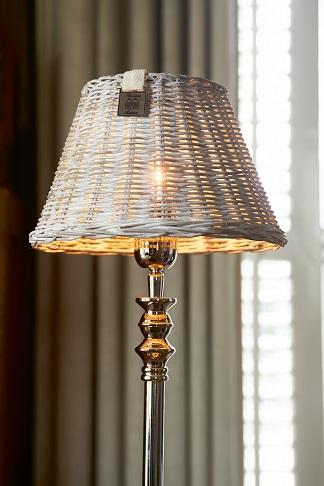 Rustic Rattan Tapered Lamp 14x25