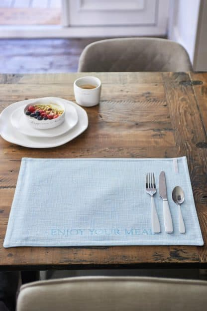 Enjoy Your Meal Placemat blue