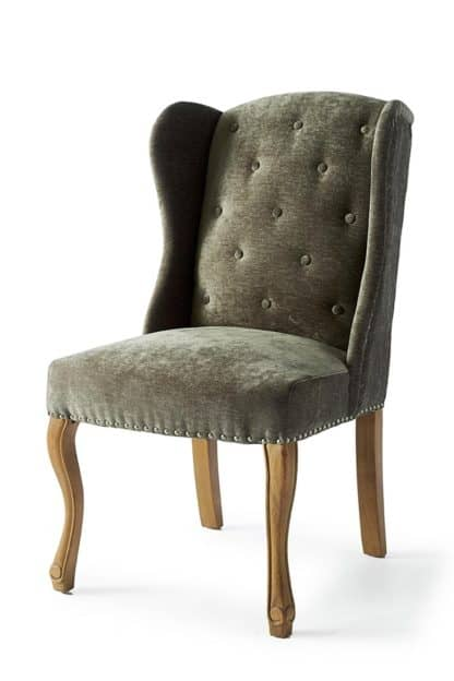 Keith II Din Wing Chair Velv Olive