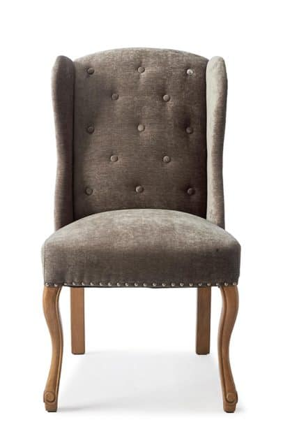 Keith II Din Wing Chair Velv Brown