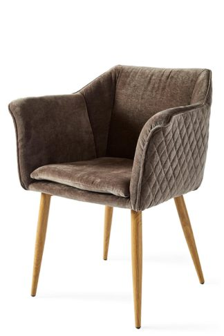 Megan Dining Armchair Velvet Brown
