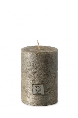 Rustic Candle antique silver 7x10
