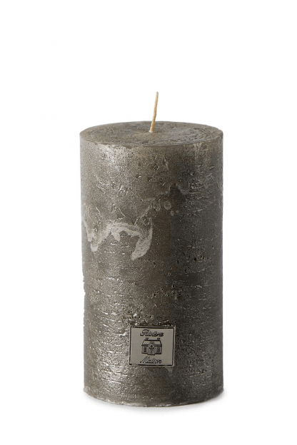 Rustic Candle antique silver 7x13