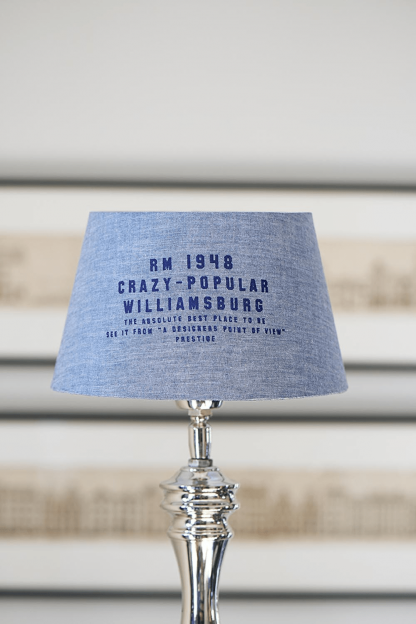 Williamsburg Lampshade blue 15x20