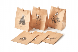 Merry Christmas Paper Bags 6 pcs