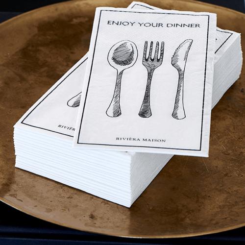 Paper Napkin Enjoy Your Dinner