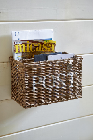 Rustic Rattan Post Basket