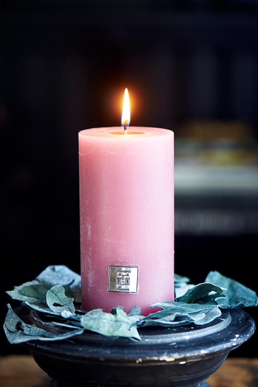 Rustic Candle raspberry 7x13